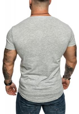 1fd5a04b6dac33 Amaci Sons Oversize Herren Slim-Fit Crew-Neck Basic T-Shirt Rund ...