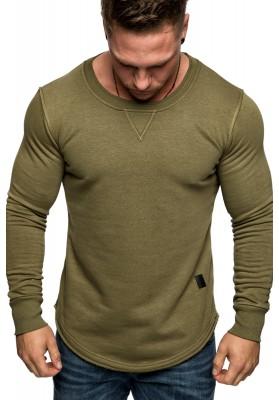 sale retailer 4c8af 01c52 Amaci&Sons Herren Oversize Pullover Rauten Style Longsleeve Sweatshirt  Crew-Neck 6080 Khaki